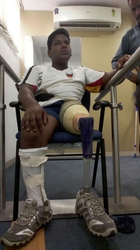 Behinderter Jugendlicher