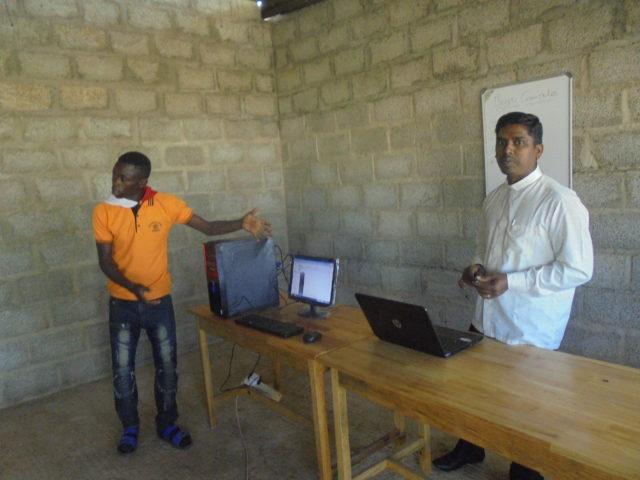 Unterricht im Neubau