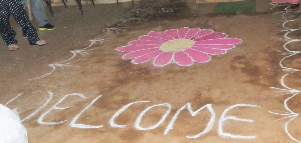 Straßenkinder-Heim: Willkommensgruß