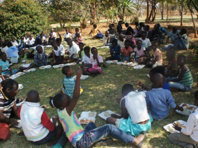 Schüler in Sambia
