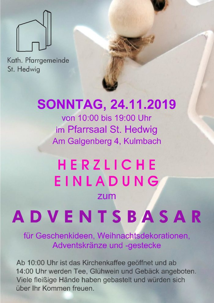 Adventsbasar 24.11.2019 St. Hedwig Kulmbach