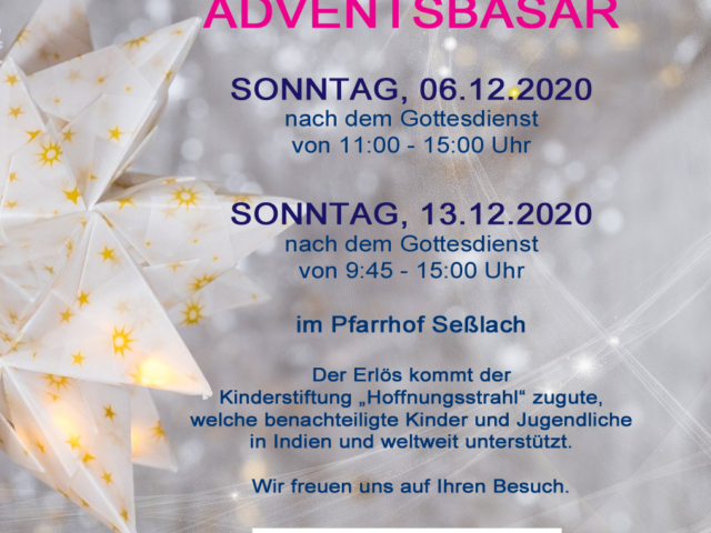 Adventsbasar Seßlach 2020