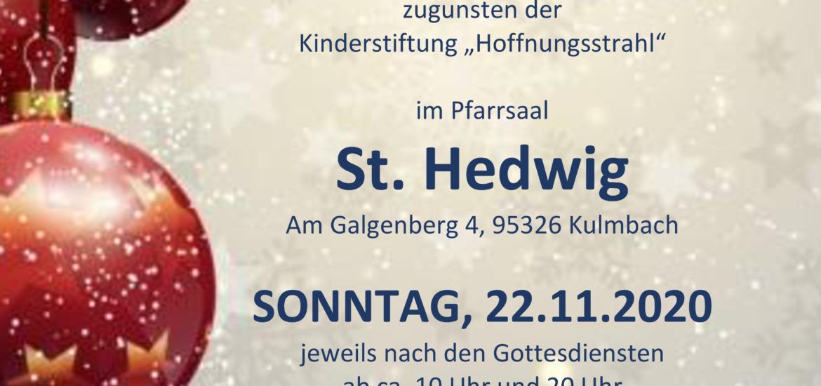 Adventsbasar St. Hedwig Kulmbach 2020